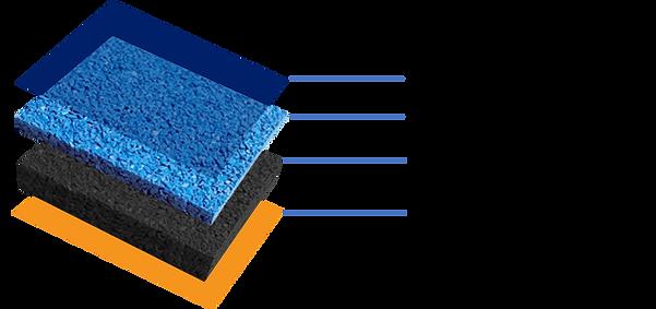Composicion Rubberflex piso de caucho