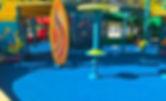 Piso de caucho Rubberflex XTR en parque acuatico