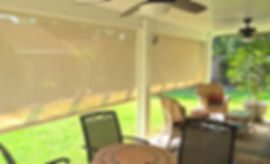 Perma exterior shades in terrace