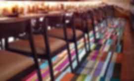 Alfombras de area FLOR en bar
