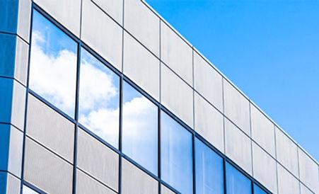 Exterior reflective window film