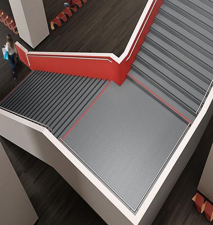 Sistemas de escalera stair treads de goma