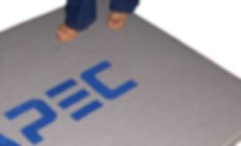 Alfombra con logo Supermat