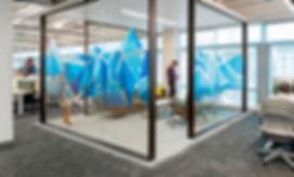 Interface modular carpet in office space