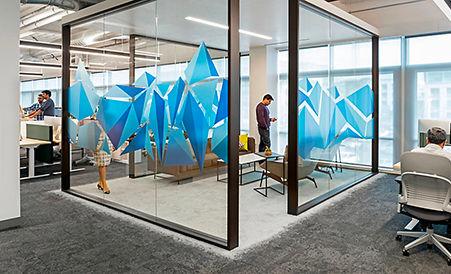 Alfombra comercial Interface en oficina