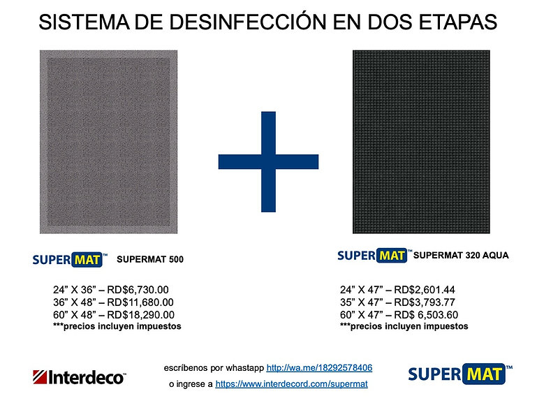 Alfombra desinfectantes Supermat