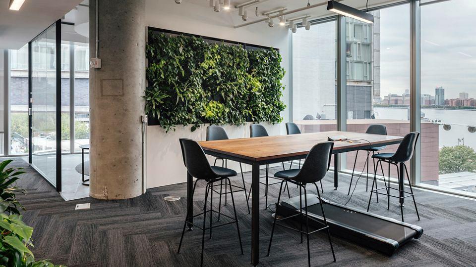 Alfombra Interface en espacio de oficina