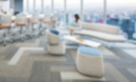 Shaw Contract modular carpet tile in office space