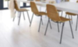 Shaw laminate floor in diner