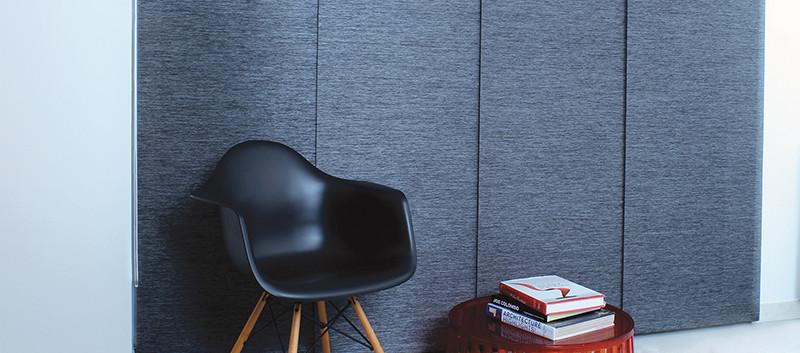 Panel deslizante gris oscuro