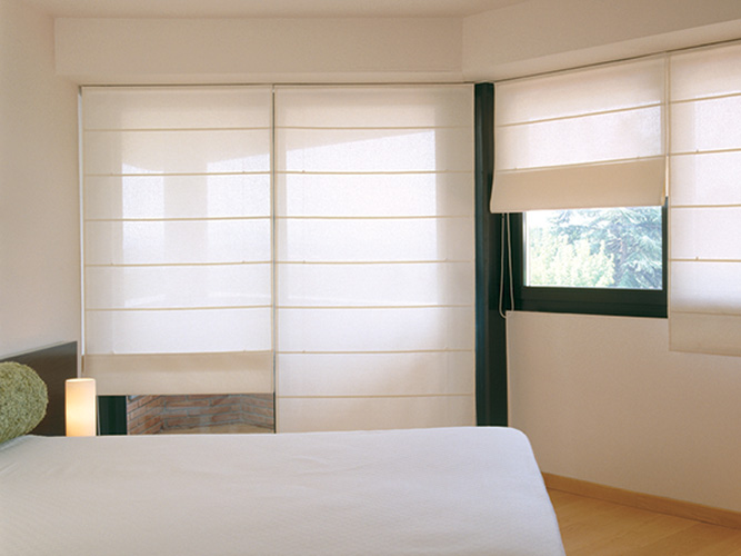 Cortinas romanas en screen