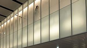 Fachada en cristal decorativo