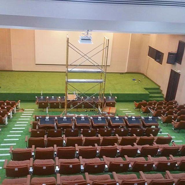 Instalación alfombra comercial en Banco