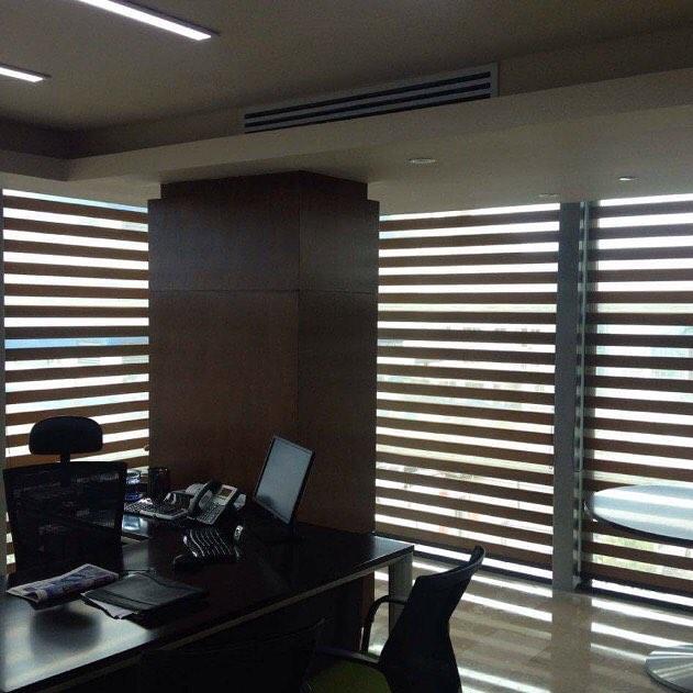 Instalación cortinas neolux zebras en of