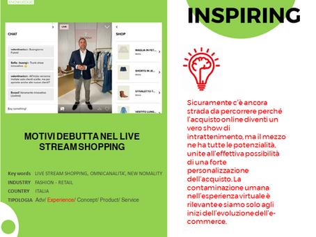 Motivi debutta nel Live Stream Shopping