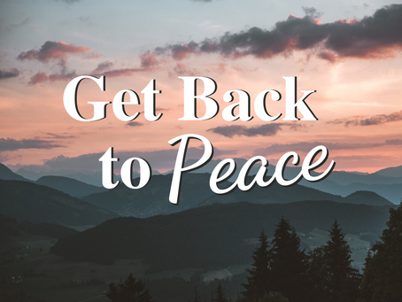 Peace is Possible – Be Kind to Yourself