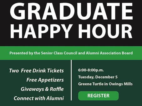 Senior Class, Alumni Board to Host Happy Hour for December Grads