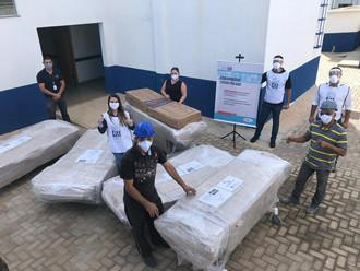 Doações da JBS ao governo de Goiás chegam ao Hcamp de Luziânia