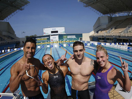 Atletas da natação masculino e feminino deixaram muito a desejar