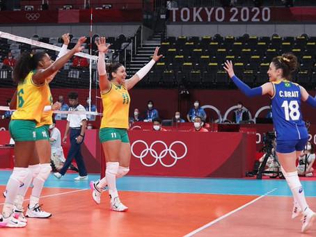 Vôlei de quadra feminino inicia com vitória tranquila sobre Coréia do Sul