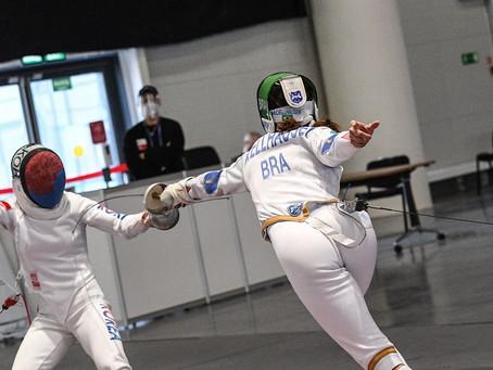 Na espada a ítalo-brasileira foi eliminada pela italiana Rossella Fiamingo