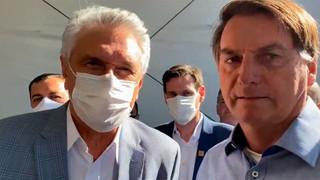 Caiado e Bolsonaro se reaproximam e entregam Hcamp de Águas Lindas