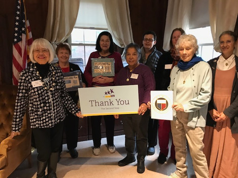 Press Release: Newton Woman's Club donates to Second Step in Newton