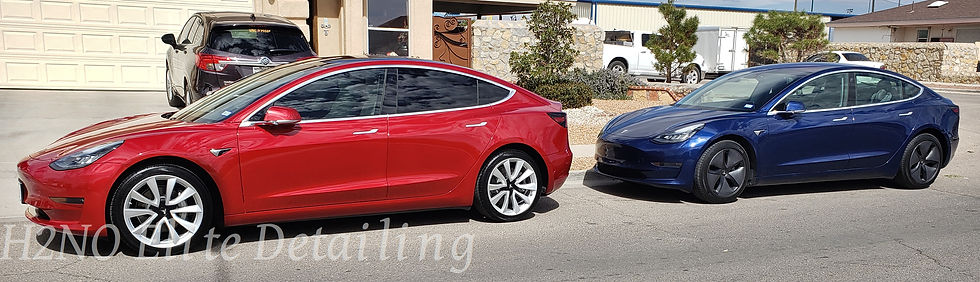 Two Detailed and Ceramic Coated Tesla Model 3s in El Paso TX