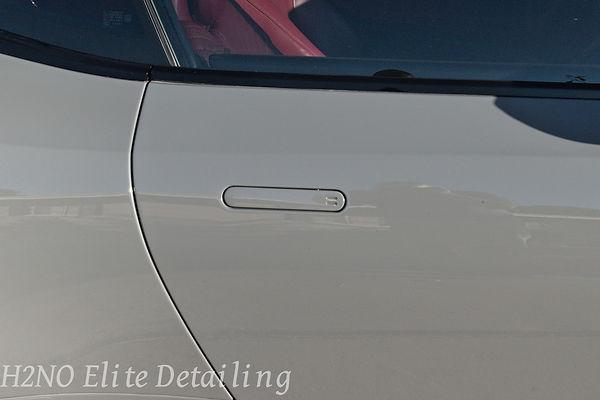 Polished Door Handle of Aston Martin DB11