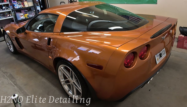 Rear shot of Corvette with Paint Correction