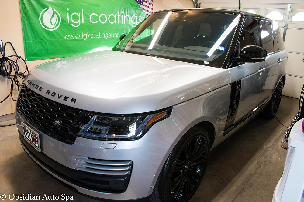 Paint Correction on a Silver Range Rover