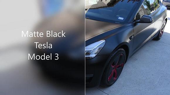 After walk by of Ceramic Coating on Tesla Model 3