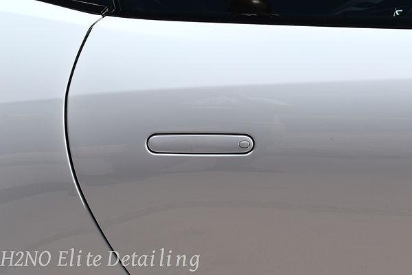 Paint Correction on handle of Jaguar in El Paso
