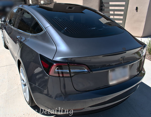 Rear Tesla Model 3 Paint Correction in El Paso TX