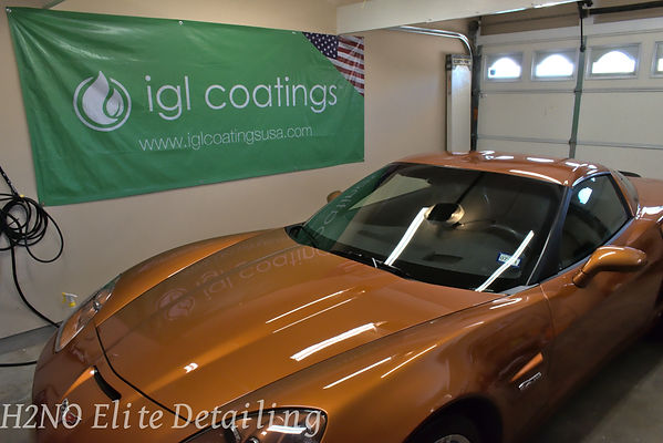 IGL banner with Corvette in El Paso