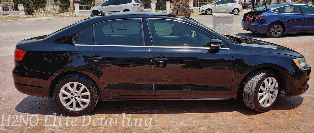Waxed car in El Paso Texas