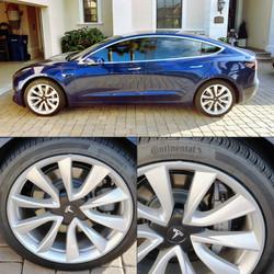 Tesla M3 Silver Rim Savers