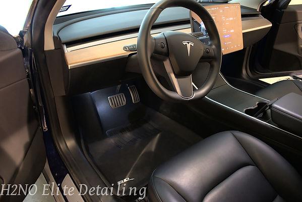 Driver Detailed Interior Tesla Model 3