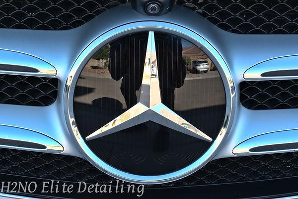 Front emblem e-class Ceramic Coating in El Paso TX