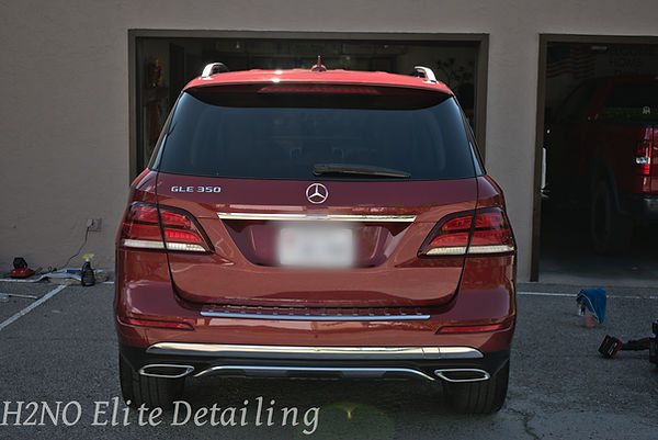 Full Trunk View of Paint Correction on a Mercedes in El Paso TX