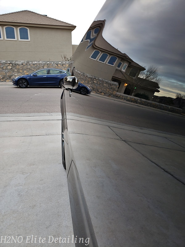Mirror Reflection from Paint Correction Audi A3