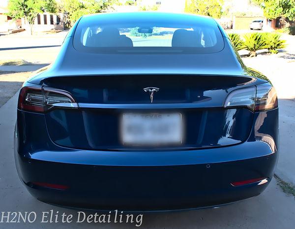 Ceramic Coated Trunk Blue Tesla Model 3