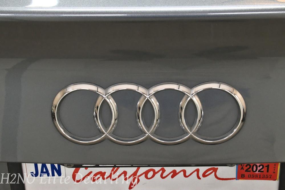 Polished Audi rings in El Paso