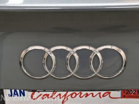 Silver Audi A4 Detail