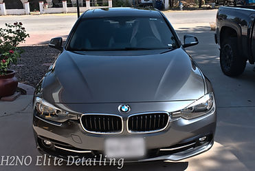 Silver BMW paint correction, ceramic coating, detailing in El Paso Texas