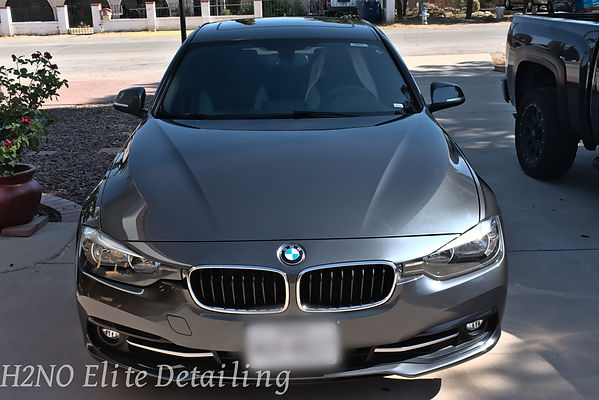 Front BMW Paint Correction and Ceramic Coating in El Paso TX