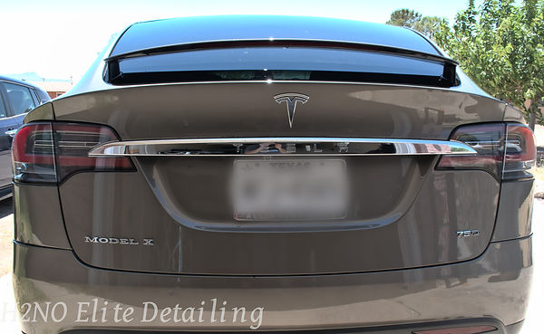 Full Rear view of Model X Paint Correction