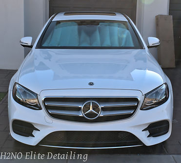 White Mercedes E-class paint correction, ceramic coating, detailing in El Paso Texas