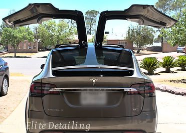 Tesla Model X paint correction, ceramic coating, detailing in El Paso Texas
