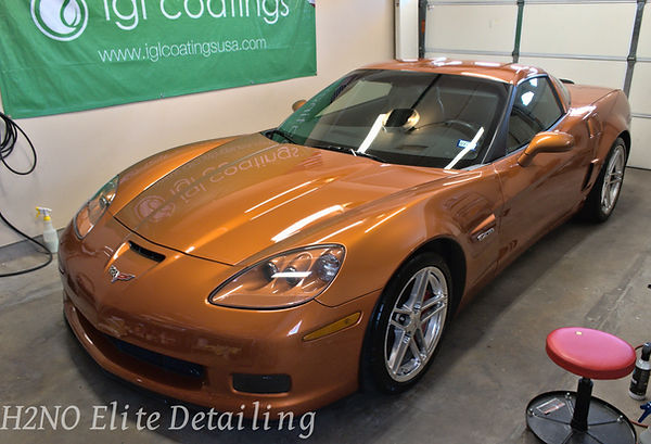 Full Corvette with paint correction in El Paso